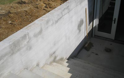 Concrete walkout basement - angle 1