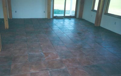Large Living Space With Heated Ceramic Tile Floor Uncleaned After